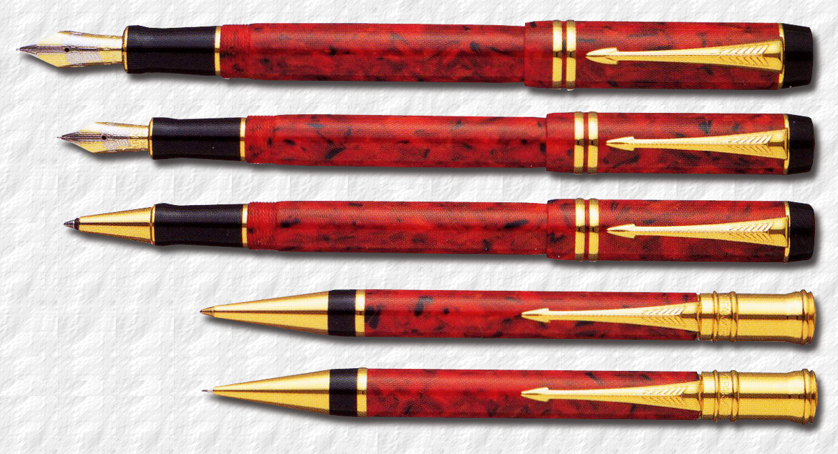 Parker Rollerball Pen Red And Silver